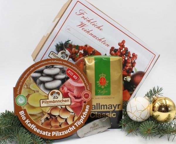 Fröhliche Weihnachten, Geschenkset Pilz & Kaffee Genuss-Set